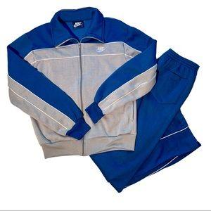 Vintage 1980's Nike Blue Tag Track Suit Jogging M